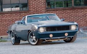 Обои машина, авто, ретро, обои, 1969, wallpaper, шевроле