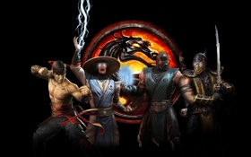 Обои Dragon, Logo, Mortal Kombat, Wallpaper, Game, Katana, Sword