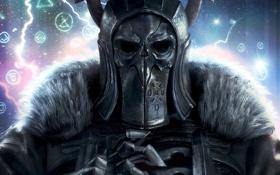 Обои шлем, мех, доспех, The Witcher 3