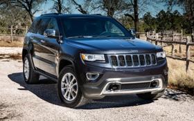 Картинка серый, Джип, передок, Jeep, Grand Cherokee, Гранд Чероке, Limited