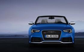 Обои Audi, Авто, Ауди, Синий, Фары, RS5, Передок