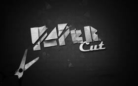 Обои ножницы, Paper, cut
