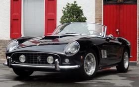 Картинка фары, Ferrari, кабриолет, Ferrari 250 Spider California