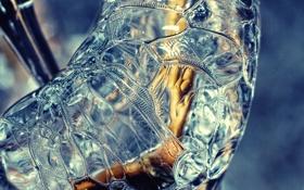 Обои лед, текстура, ice macro