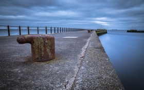 Картинка Scotland, Big Stopper, Ayr Harbour Wall