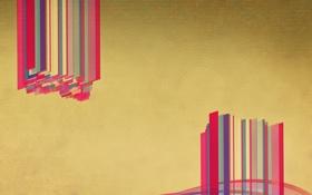 Картинка Абстракция, полоски, цвета, обои, арт, фон, стиль