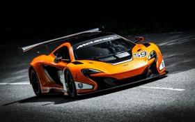 Обои McLaren, Дорога, Спорт, Оранжевый, День, Фары, Автомобиль
