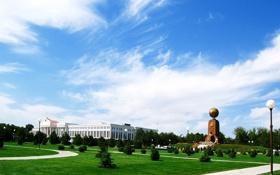 Обои монумент, Ташкент, Узбекистан, облако