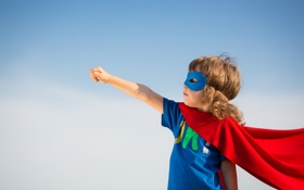 Обои cosplay, child, superhero, superpower