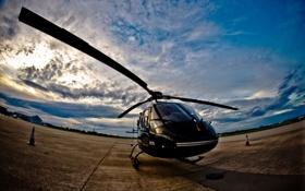 Картинка небо, авиация, вертолёт