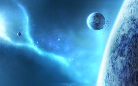 Обои синий, планеты, eternal ocean
