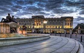 Картинка город, фото, Великобритания, Westminister, Buckingham Palace