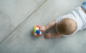 Картинка ребенок, малыш, мячик, baby, лялька, дитё