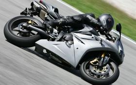 Обои чёрный, скорость, поворот, мотоцикл, black, daytona