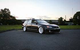 Картинка Subaru, black, субару, stance, Outback
