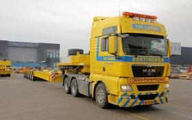 Обои Желтый, Германия, Грузовик, Truck, Тягач, MAN, TGX