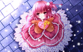 Обои pink hair, dress, valentine, Tomoka Minato