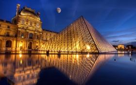 Обои город, ночь, Париж
