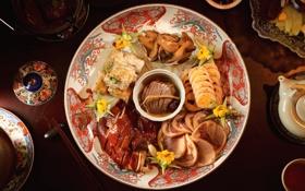 Картинка мясо, экзотика, блюдо, ассорти, закуски