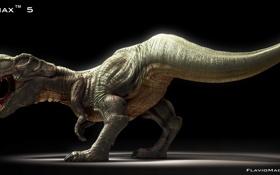 Картинка челюсти, динозавр, хищник, пасть, клыки, тирекс, тиранозавр
