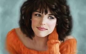 Картинка Rachel Adams, прическа, актриса, лицо, улыбка, кофта, взгляд