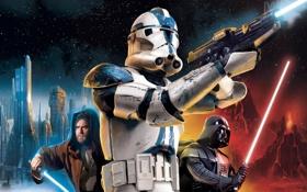 Картинка война, star wars, стрелялка, клоны