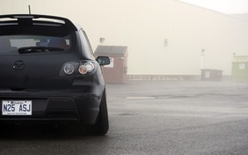 Обои черная, Speed, Mazda 3, tuning, мазда