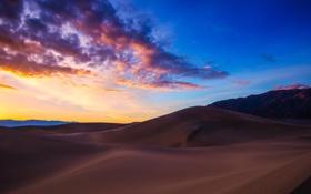 Обои рассвет, пустыня, дюны