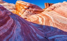 Картинка небо, горы, скалы, слои