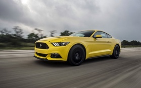 Обои Mustang, Ford, мустанг, форд, Hennessey, Supercharged, 2015