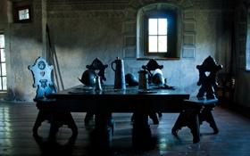 Обои стол, средневековье, крошки