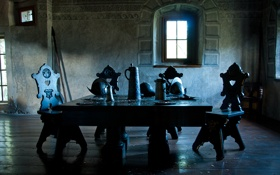 Картинка стол, средневековье, крошки