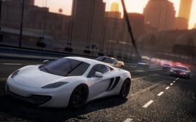 Картинка город, гонка, погоня, McLaren MP4-12C, need for speed most wanted 2