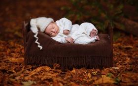 Картинка фон, кровать, младенец