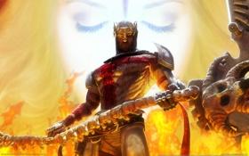 Обои dantes inferno, воин, оружие