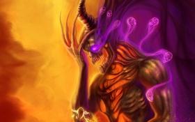 Картинка цветок, дух, черепа, призраки, нежить, рог