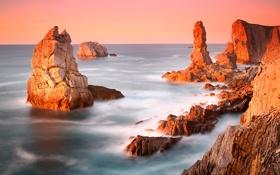 Обои море, небо, скалы