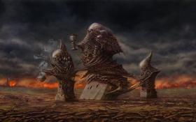 Картинка арт, кости, черепа, фигуры, by ser1o, the three judges