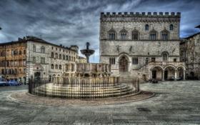 Обои Italy, Umbria, Perugia, Fontana Maggiore