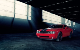 Картинка red, dodge challenger srt8, Chrysler Corporation