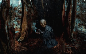 Обои лес, ритуал, маска