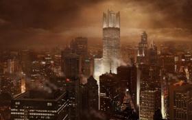 Картинка огни, города, ночого