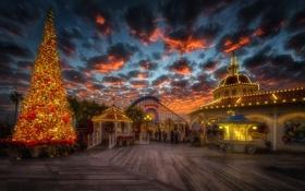 Обои небо, облака, закат, природа, новый год, рождество