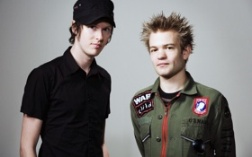 Обои Sum 41, Deryck Whibley, Punk, Jason McCaslin