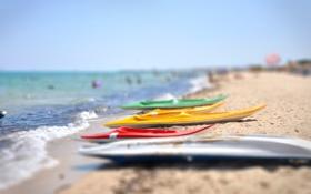 Обои tilt-shift, побережье, пляж, море, Тунис