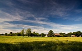 Обои трава, природа, фото, обои, пейзажи, дома
