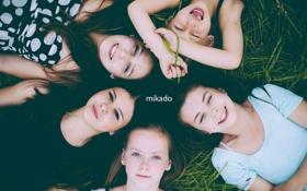 Картинка трава, радость, Девочки