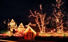 Картинка город, USA, Christmas, Oregon, Portland, сity