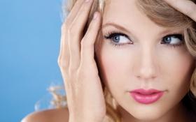 Обои лицо, рука, Taylor Swift