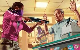 Обои Grand Theft Auto V, Rockstar Games, gta 5, GTA Online, банда ограбление